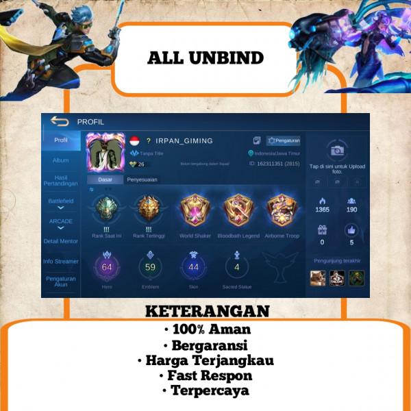 Akun Mobile Legend Sultan   Murah   42
