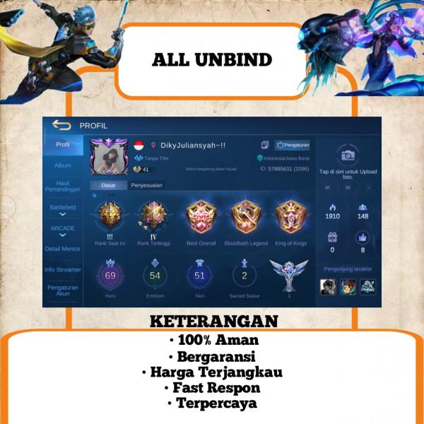 Akun Mobile Legend Sultan   Murah   55
