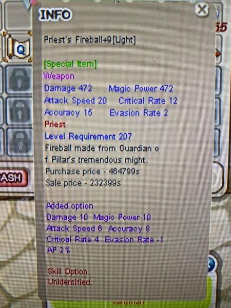 Priest's Fireball+9 Opt Rame