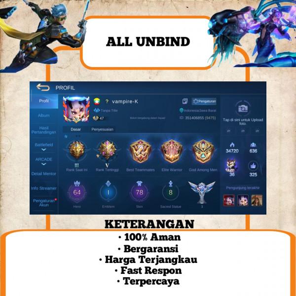 Akun Mobile Legend Epic Limit   Murah   56