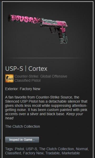 USP-S   Cortex (Factory New)