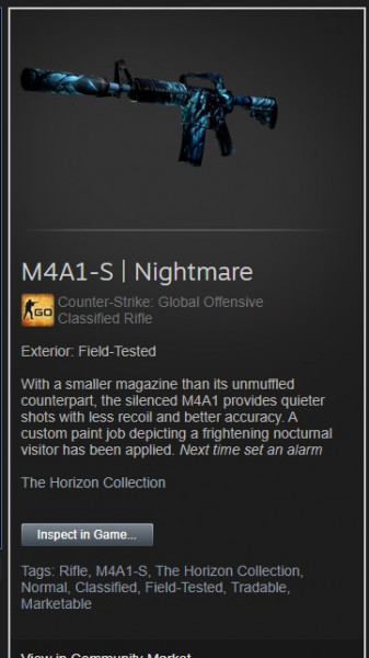 M4A1-S | Nightmare (Field-Tested)