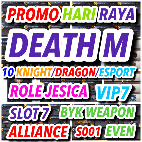 DEATH M + FEL EVIL + 10 KNIGHT/BRUTAL/ESPORT+ROLE