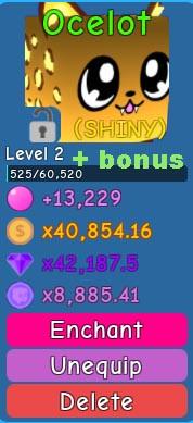 Shiny Ocelot(Bubble Gum Simulator)