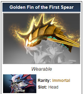 Golden Fin of the First Spear (Immortal TI 10 Slardar)