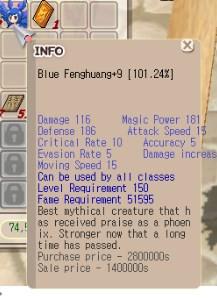 Blue Fenghuang +9 clean