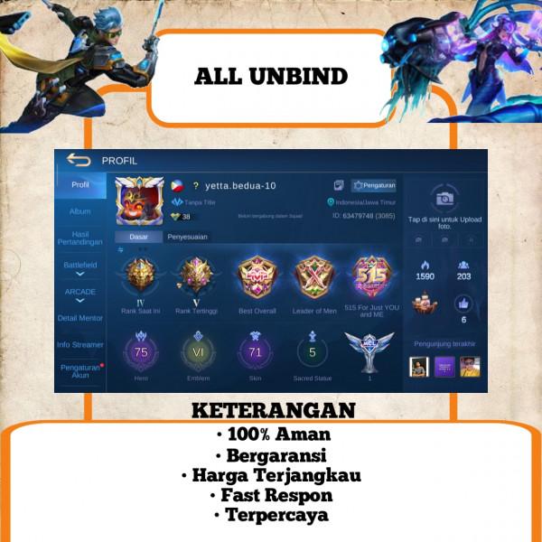 Akun Mobile Legend Sultan   Murah   04