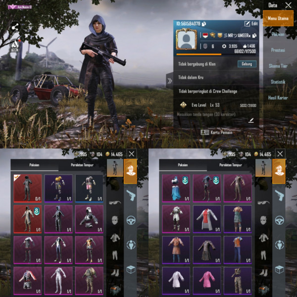 PUBGM Global Rp 8 Max Set Outfit 39