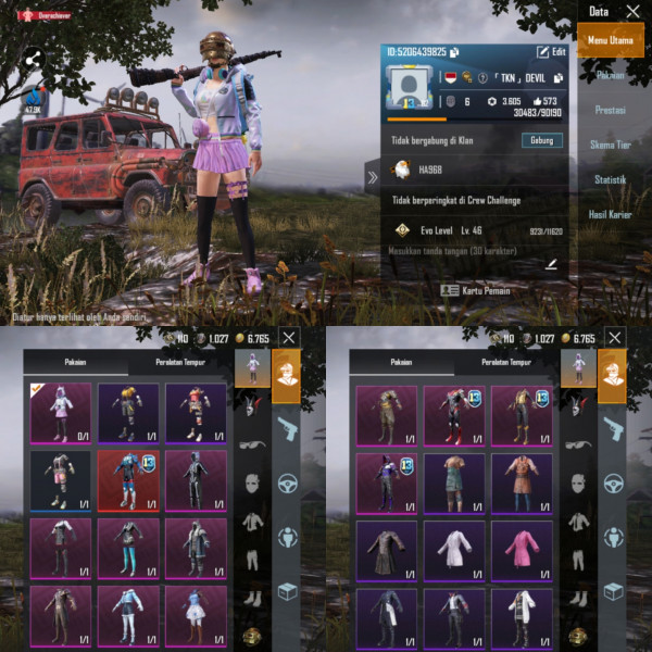 PUBGM Global Rp 13 Max Set Outfit 33