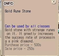 Gold Rune Stone GRS