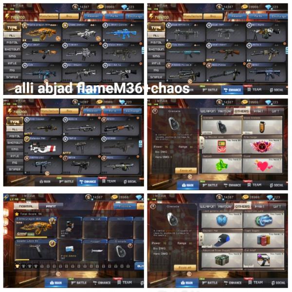 Akun game crisis action flameM36+chaos