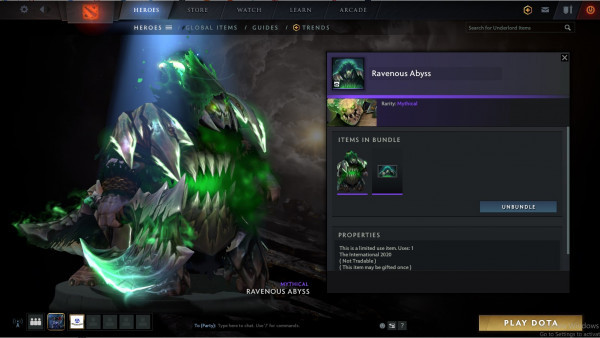 Ravenous abyss (underlord set)