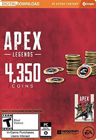 Origin CD Keys 4000 Apex Coins