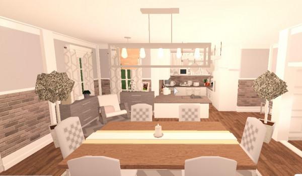 White Cozy Interior I Bloxburg I (satu ruangan)