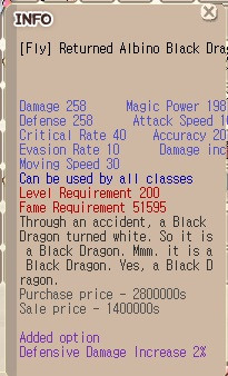 Fly Albino Returned Black Dragon+9 DDI 2%