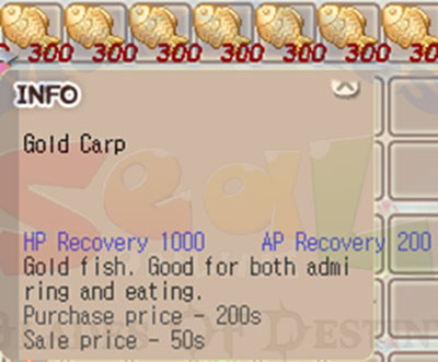 Gold Carp 1Stack Ransum