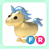 Fly Ride Golden Unicorn - Adopt me