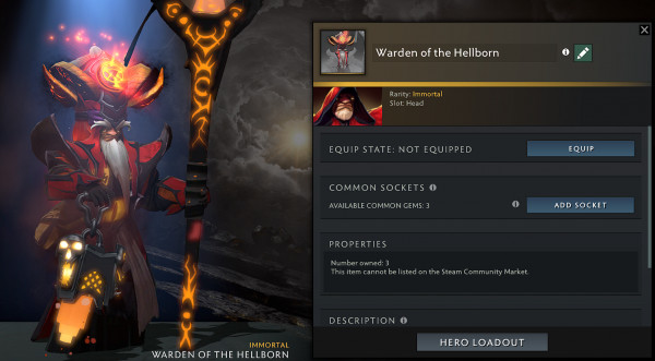 Warden of the Hellborn (Immortal Warlock)
