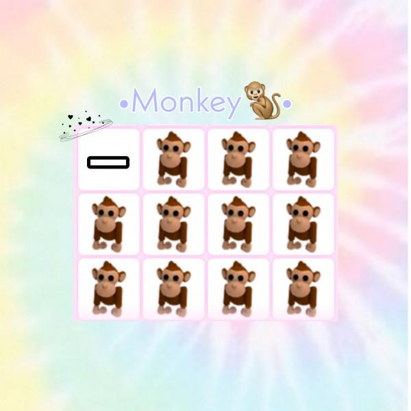 Monkey - pets Adopt me