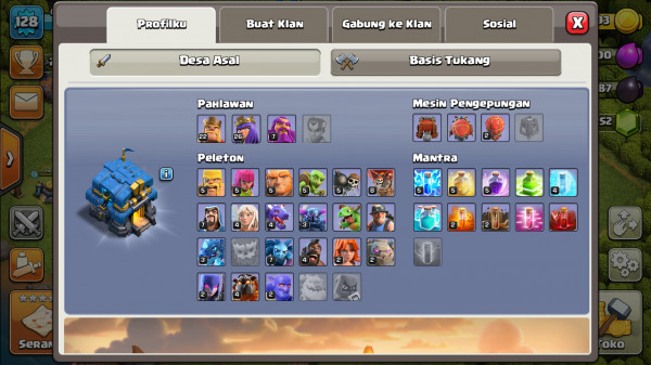 Town Hall 12 BK Lv23 AQ Lv26 GW Lv7 Skin 2 Gladiator