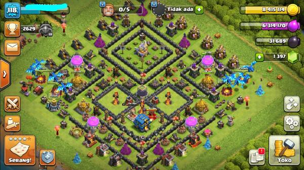 Town Hall 12 BK Lv17 AQ Lv15 GW Lv8 Log GP Ratu Valkrie