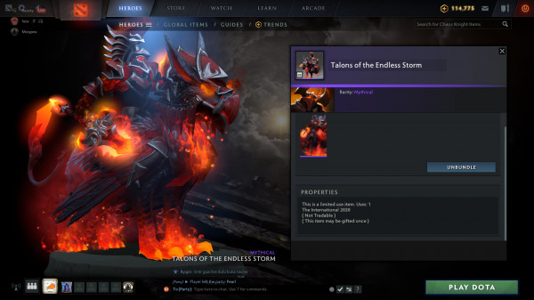 Talon of The Endless Strom (Chaos Knight CC2020)