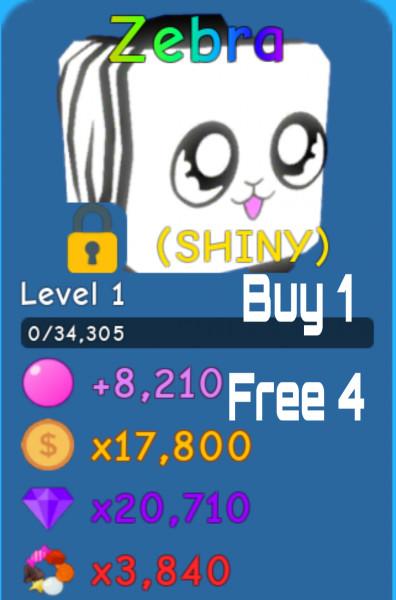 Shiny Zebra   Bubble Gum Simulator