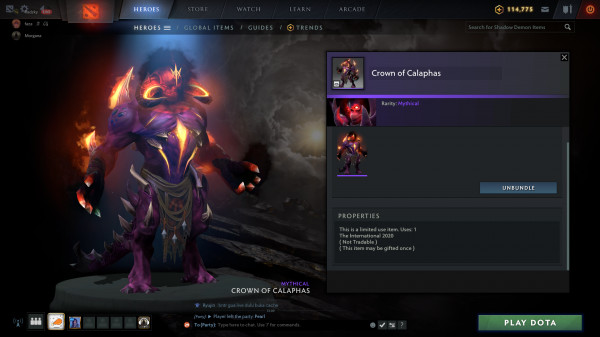 Crown of Calaphas (Shadow Demon CC2020)