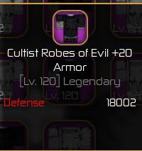 Cultist Robes Of Evil Max   Roblox Swordburst 2