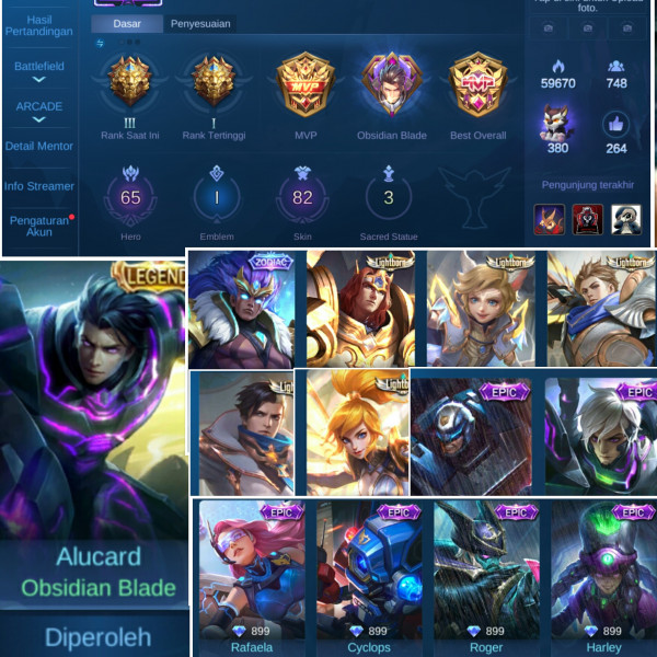 AKUN ML BER SKIN LEGEND
