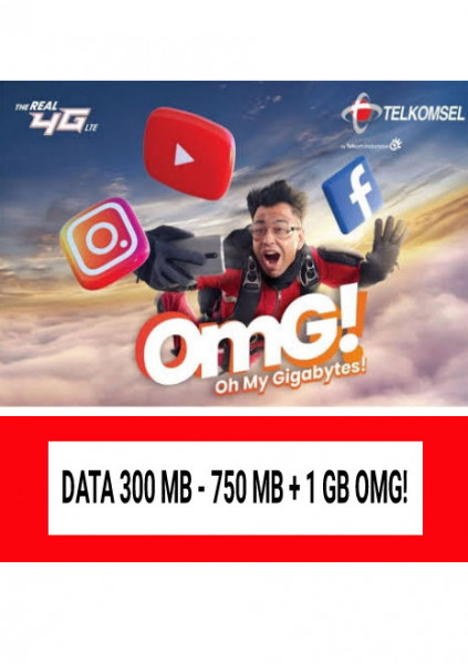Data 300 MB - 750MB + 1GB OMG!