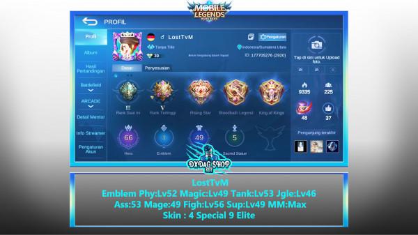 Akun Legend Hero Skin Banyak #Murah #Emblem GG