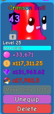 Crimson Bell ( Bubble Gum Simulator )