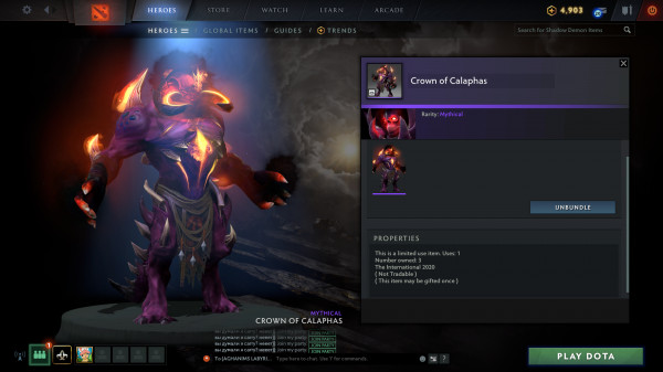 Crown of Calaphas (Collector Cache Shadow Demon)