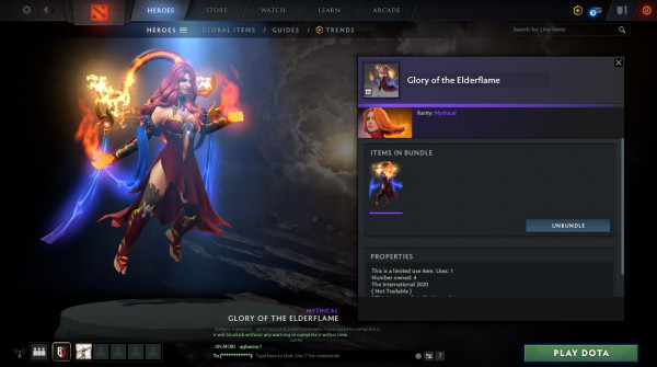 Glory of the Elderflame (Lina Set)