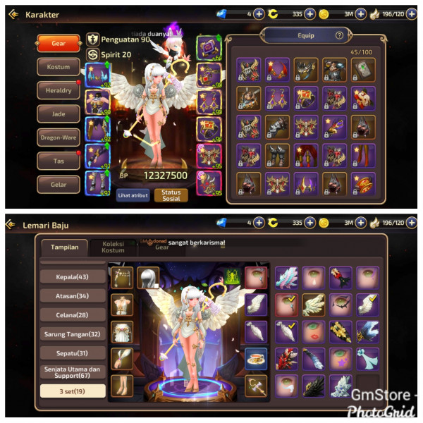 Akun Sultan Job Sorceress|Server ID2|Cost Limit 7