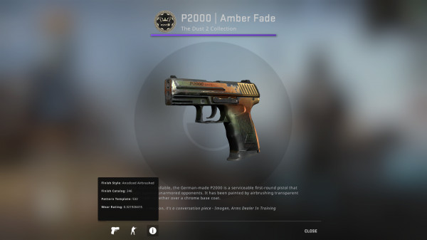 P2000 | Amber Fade (Restricted Pistol)