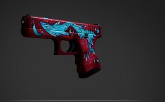Glock-18 | Water Elemental (Classified Pistol)