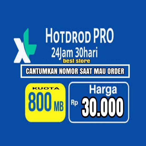 HotRod 800MB 30 Hari