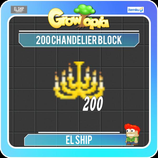 Chandelier Block 200 per Paket