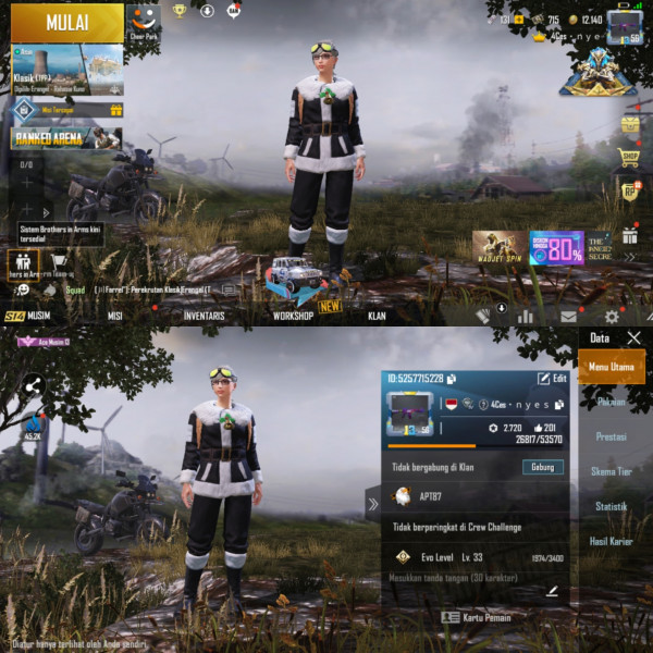 PUBGM Global Rp 13 Max|M4 Merah Putih|24 Outfit