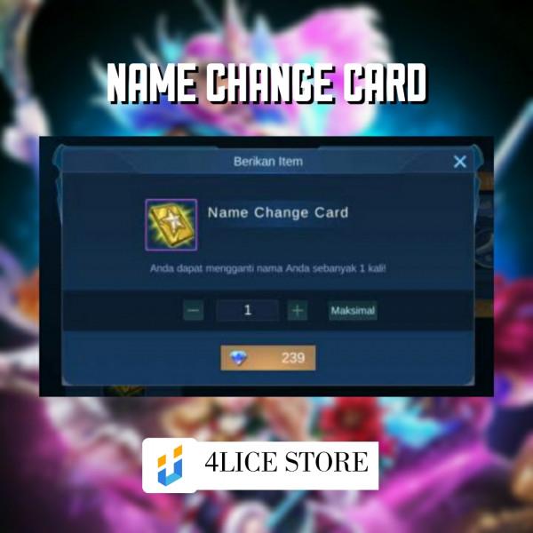 Name Change Card