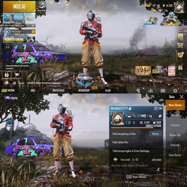PUBGM Global Rp 12 Max Set Outfit 31