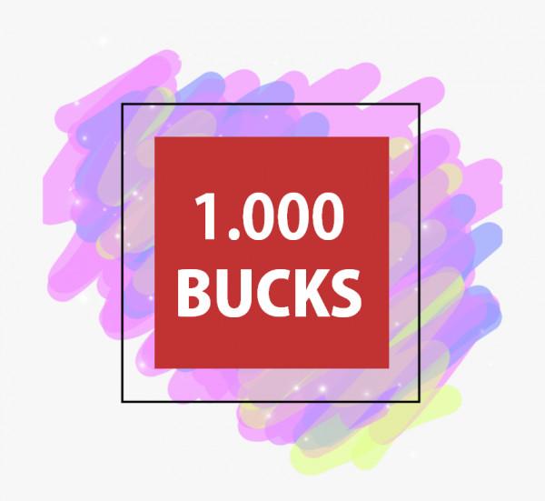 1000 BUCKS ADOPT ME