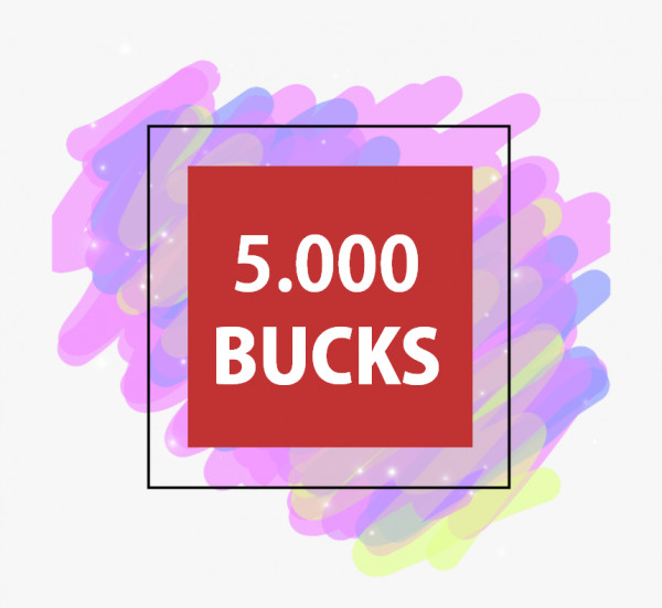 5000 BUCKS ADOPT ME
