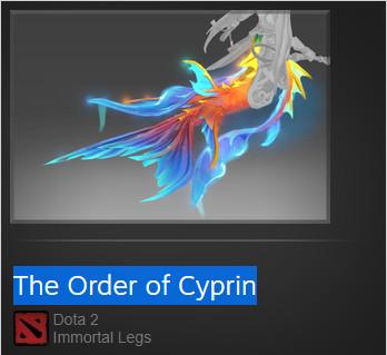The Order of Cyprin (Immortal TI8 Naga Siren)