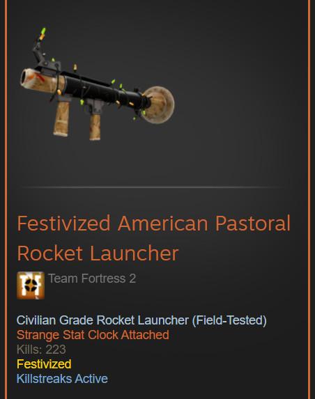 Festivized American Pastoral Rocket Launcher