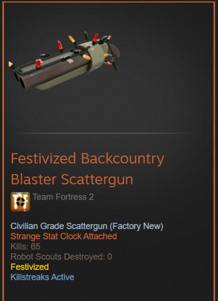 Festivized Backcountry Blaster Scattergun (TF2)