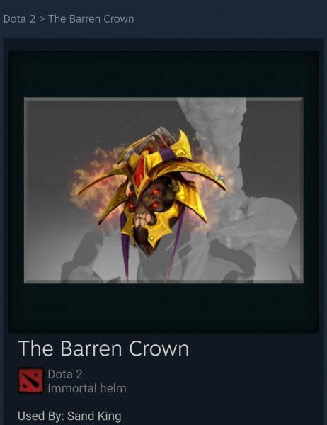 The Barren Crown (Immortal Sand King)