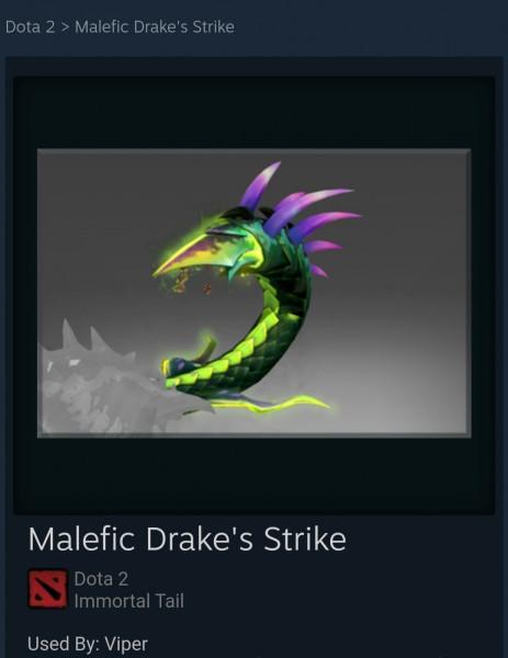 Malefic Drake's Strike (Immortal TI8 Viper)